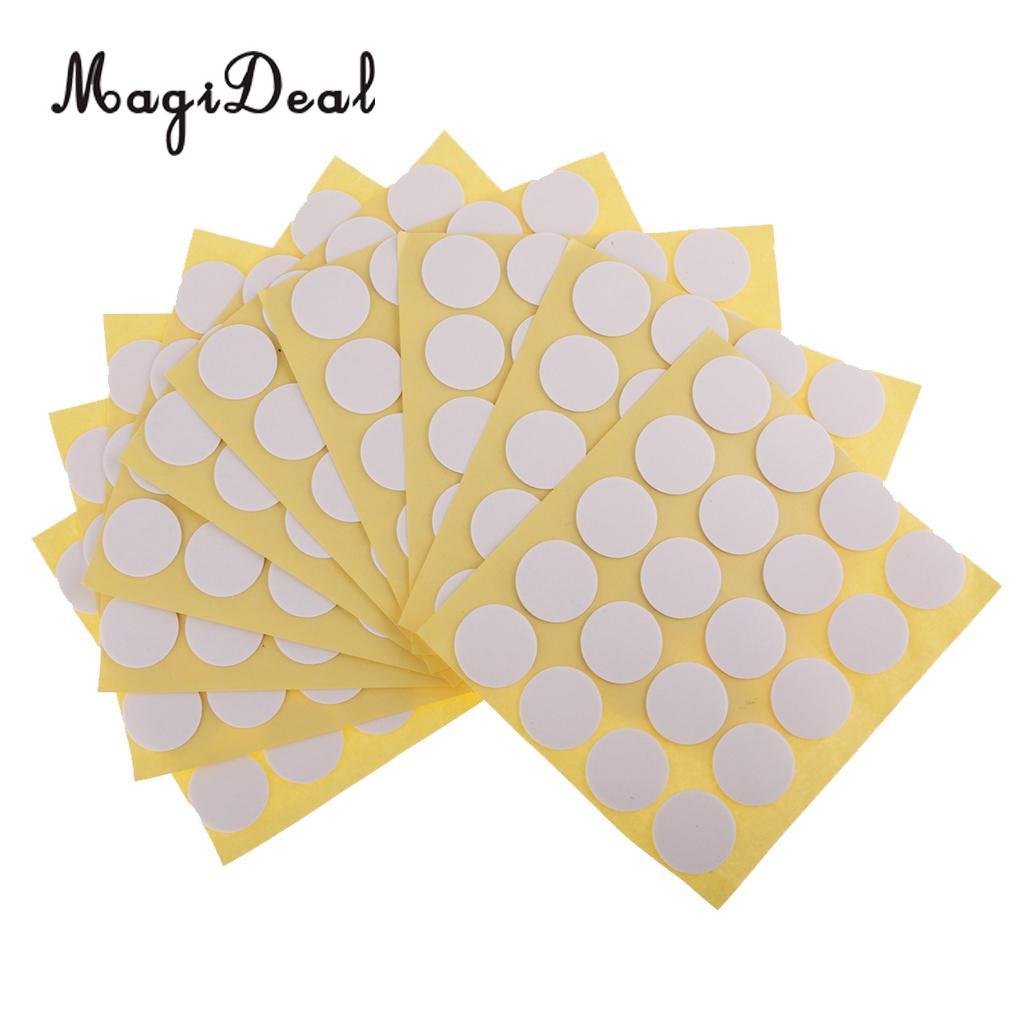 Magideal 200 Uds pegatinas de velas, pegatinas adhesivas de puntos para la fabricación de velas, decoración del hogar, soporte de velas, pegatinas fijas 20mm