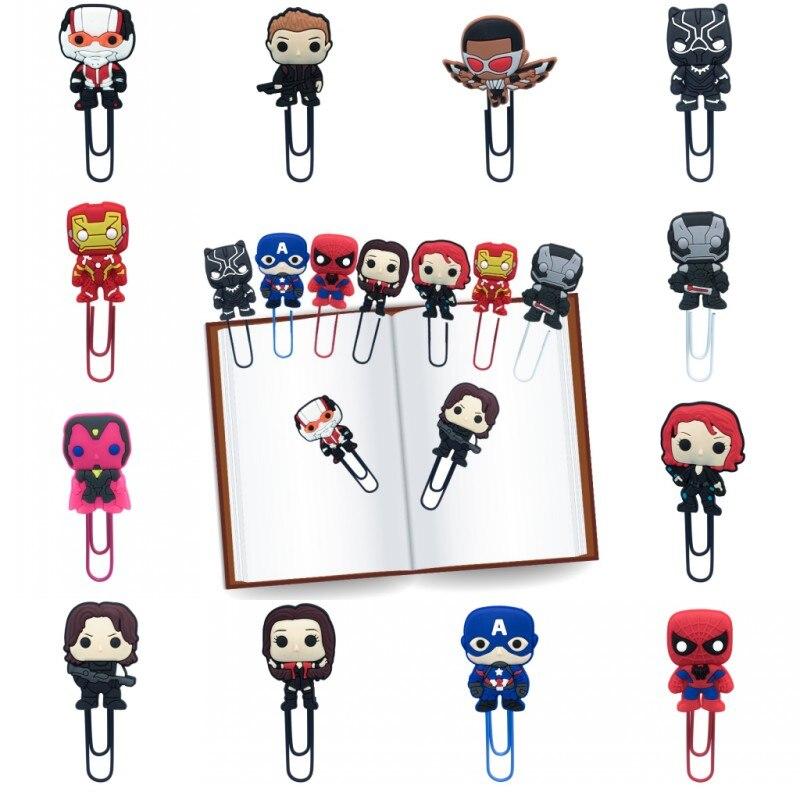 1 szt. Marvel Avenger zakładki do książek ikona akcji spinacze do papieru dla studentów nauczyciel szkoła biuro do zaznaczania stron prezent dla dzieci