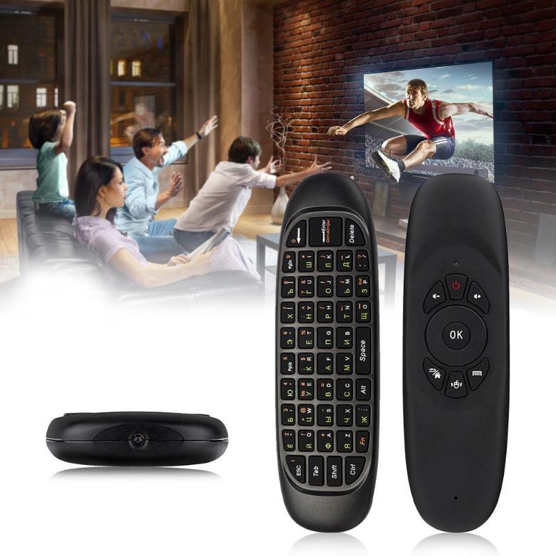 2 4 GHz G64 Fly Air Mouse русская Беспроводная клавиатура Пульт дистанционного управления