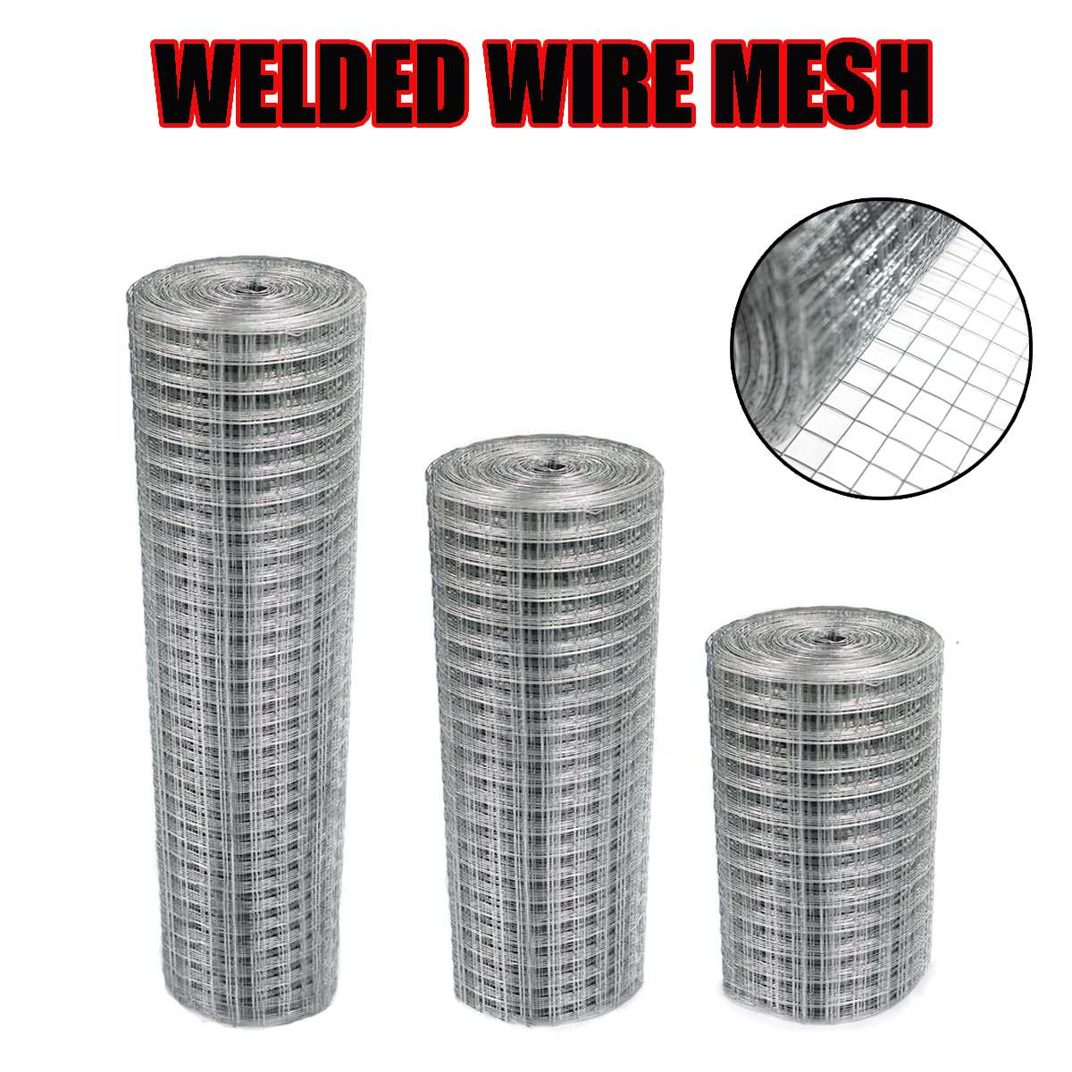 1x1 Inch Welded Galvanised Wire Mesh Fence Aviary Rabbit Hutch Chicken Coop Pet Wire Fence Mesh Fencing