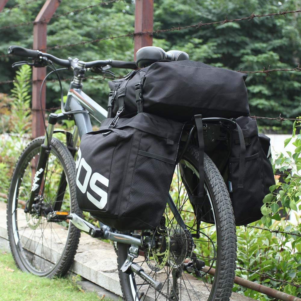 ROSWHEEL 3 en 1 multifunción carretera MTB bicicleta de montaña bolsa bicicleta Pannier asiento trasero bolsa