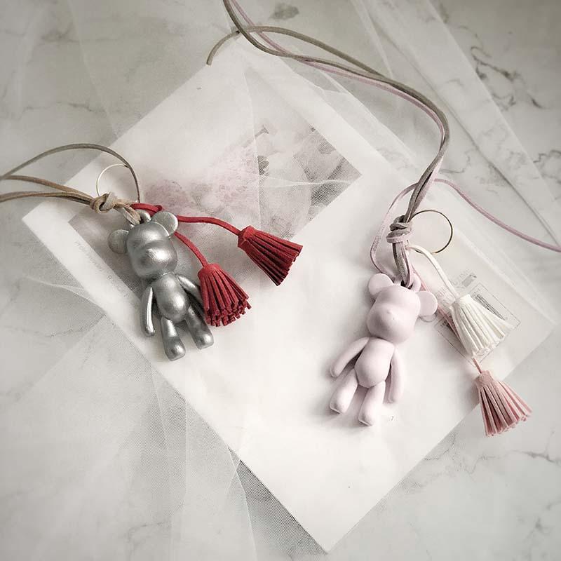 Molde de yeso de silicona con colgante de oso de la suerte, aromaterapia escayola, molde artesanal de oso encantador