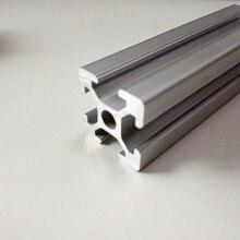 1 Uds. 100mm a 600mm longitud personalizada plata anodizada T ranura lineal carril aluminio perfil 2020 CNC 3D impresora piezas
