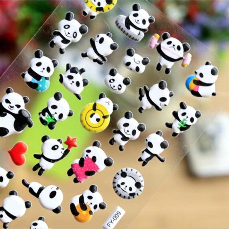 1 unidad de pegatinas de Panda lindo Kawaii Puffy Stickers 3D Bubble Sponge Stickers para niños clásicos pasatiempos niños juguetes de los niños Stranger Things