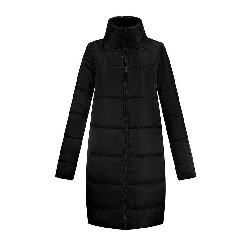 Chaqueta negra básica de plumas 2018 para mujer, moda Otoño Invierno, de algodón, de manga larga, Parka gruesa, ropa Casual Aliexpress Uk PJ248