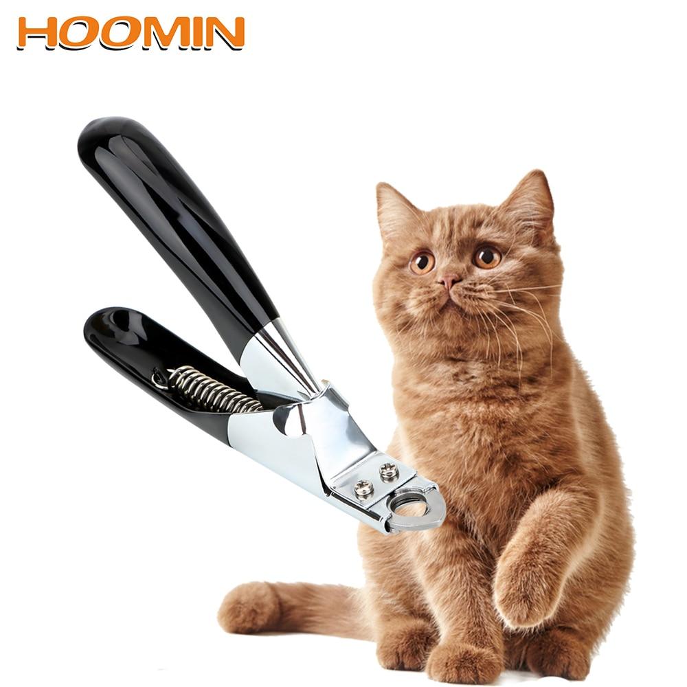 Hoomin pet prego clippers garra tesoura cortador trimmer gato grooming pet produtos de aço inoxidável suprimentos gato