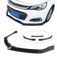 Malibu 2018 Front Bumper Lip Spoiler For Chevrolet Malibu 2012 2013 2014 2015 2016 2017 2018 3PCS Auto Car ABS Plastic Parts
