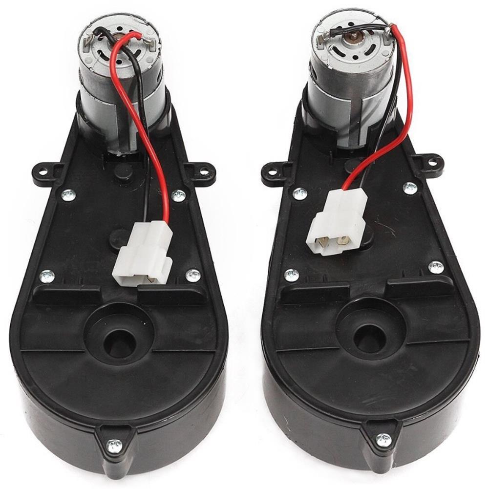 2 قطعة RS550 العالمي الأطفال الكهربائية سيارة علبة التروس مع موتور 12Vdc المحرك مع علبة تروس الاطفال ركوب على سيارة طفل سيارة أجزاء