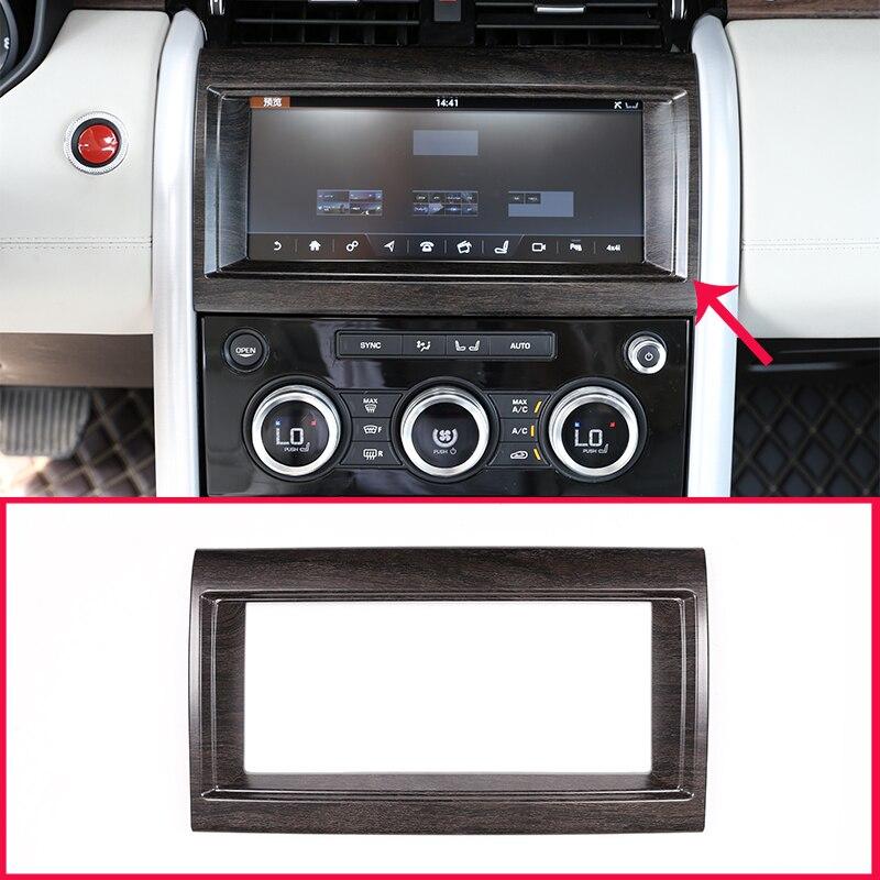1 piezas para Land Rover Discovery 5 LR5 L462 2017 2018 ABS Interior caja de navegación cubierta de marco de roble de grano