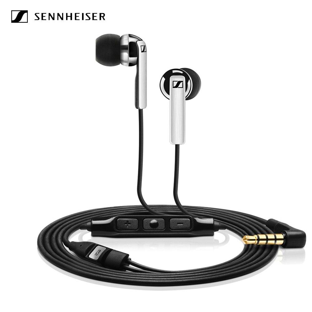 Sennheiser CX-auriculares con cable de 3,5mm, con micrófono dinámico, auriculares con Control de línea de sonido estéreo, auriculares con fuerte bajo para dispositivos iOS