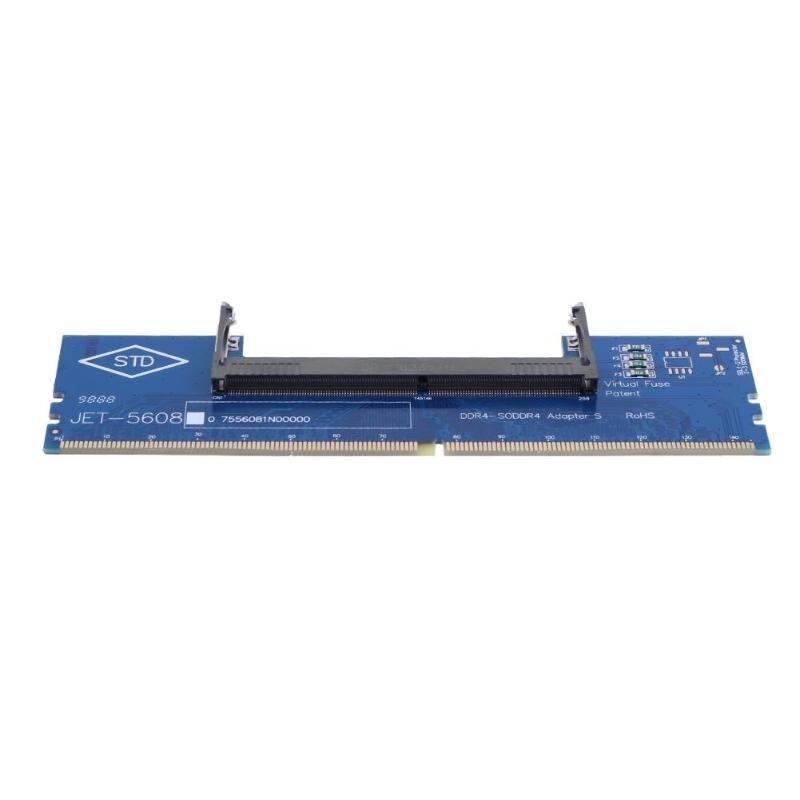 DDR4 SO-DIMM de ordenador portátil a escritorio DIMM conector de memoria RAM tarjeta adaptadora