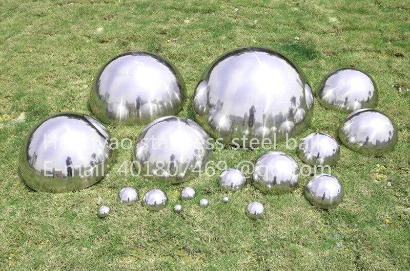 Silver Dia 90mm 9cm 304 stainless steel hollow hemispherical polished mirror elevator decorative hemisphere steel tube cover