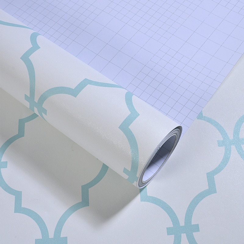 الشمال أنيقة هندسية الشبكة خلفيات قشر و عصا خلفيات لفة الأزرق غرفة المعيشة أثاث للديكور ورق حائط Ez029