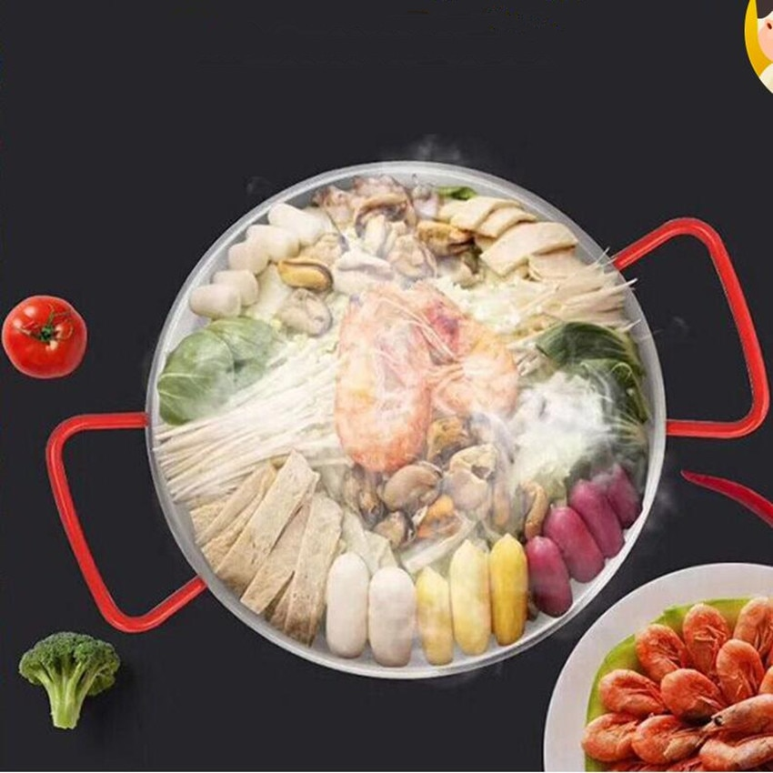 1 Uds paellera española de acero inoxidable plato coreano para pollo frito plato para mariscos olla para cocinar queso