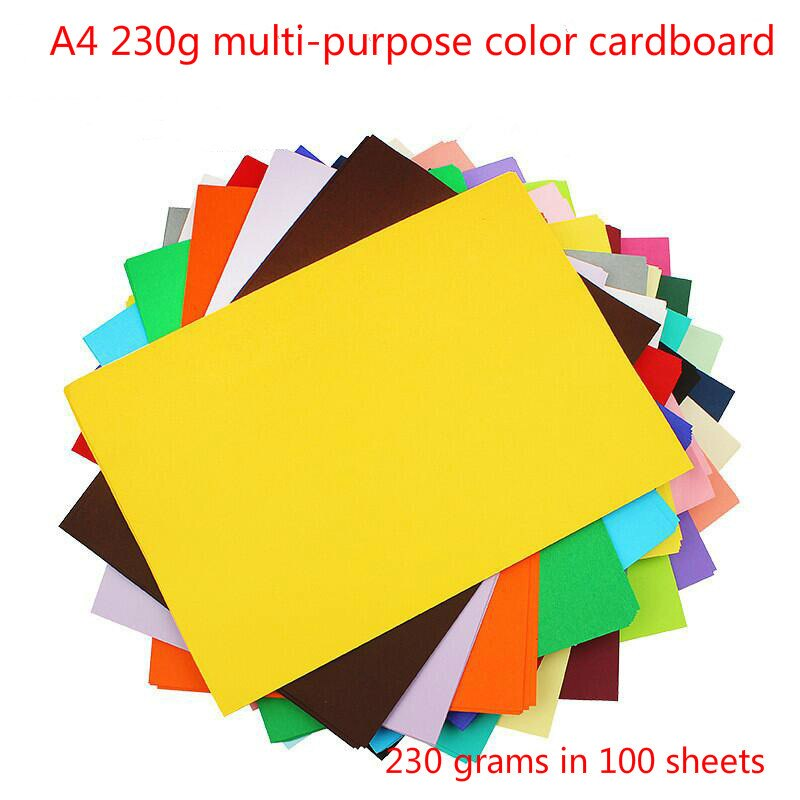 A4 100 sheets 230 grams of colored paper imported color art in Holland card hard manual printing color cardboard Children Manual