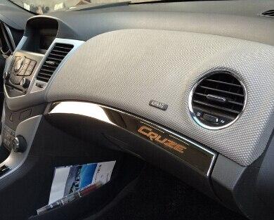 Nuevos guantes internos de acero inoxidable, pegatinas de cubierta de guantera para chevrolet chevy classic cruze 2011 2012 2013 2014 Accesorios