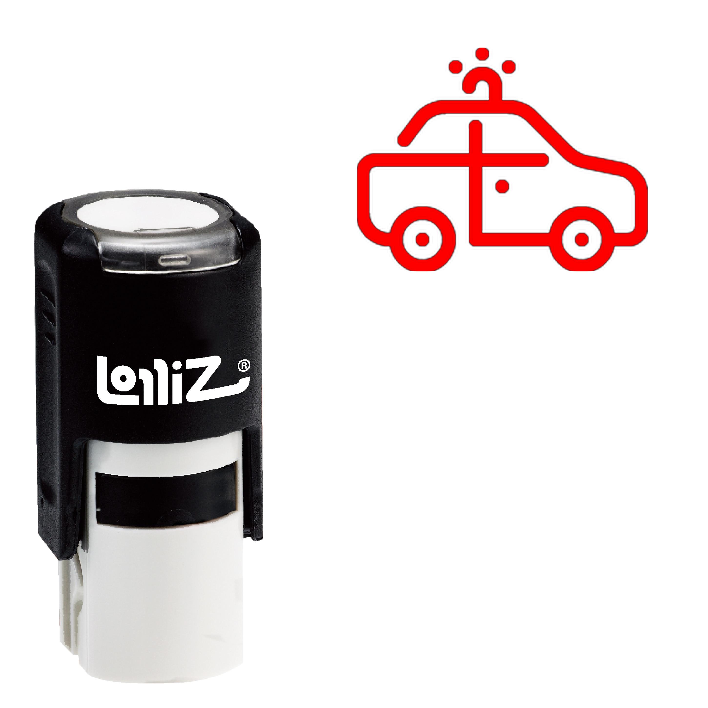 LolliZ Car Self-Inking Rubber Stamp - Modern Symbol Series