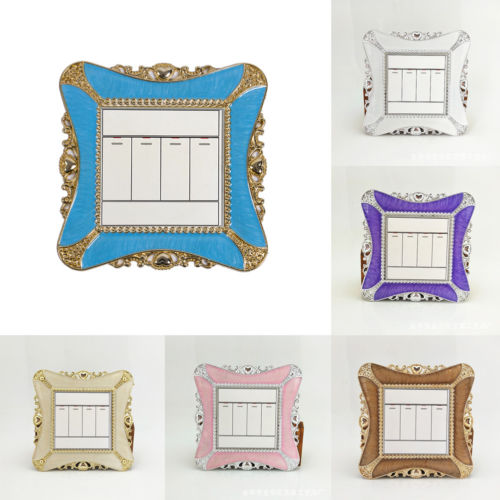 Novedad creativa de interruptor de luz única rodean Socket dedo placa Panel Cover casa habitación decoración moderna
