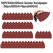 50 pièces/ensemble papier de verre 120/240 grains souris détaillant disques de ponçage rotatifs accessoires de tampon de ponceuse