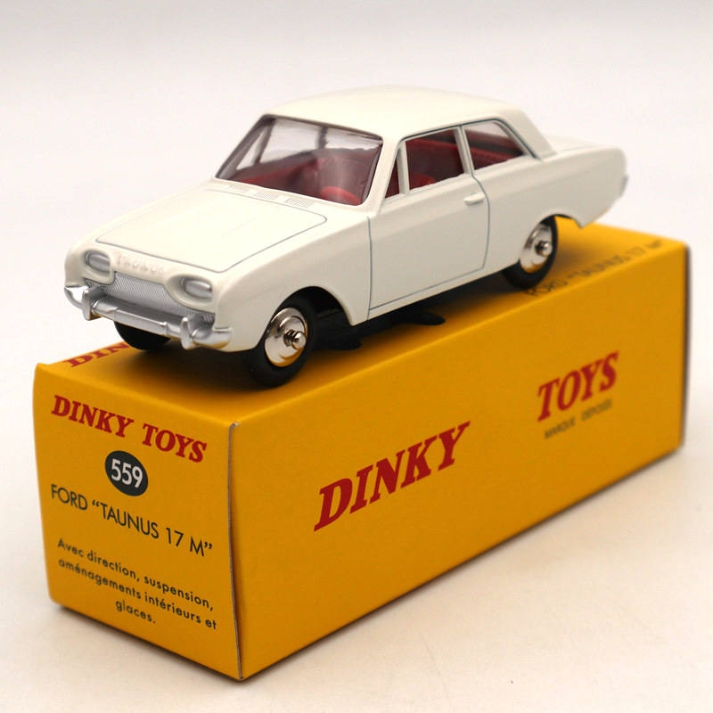 1/43 DeAgostini Dinky toys 559 For Ford Taunus 17M Diecast Models Limited Edition Auto Car Gift Collection ixo altaya 1 43 scale ford mustang shelby gt 350h 1965 cars diecast toys models limited edition collection white