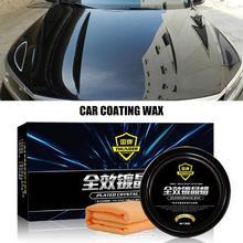Car Care Premium Carnauba Car Wax Crystal Hard Wax Paint Care Scratch Repair Maintenance Wax Paint Surface Coating Free Sponge