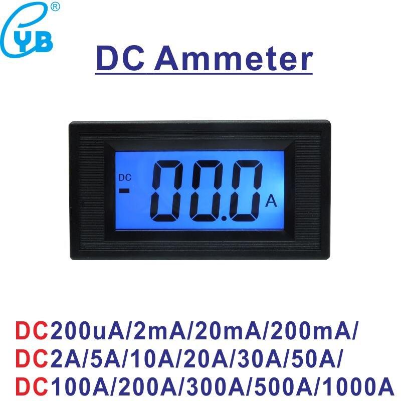YB5135D LCD Digital DC Strom Meter DC 200mA 2A 5A 10A 20A 50A 100A 200A 300A 500A 1000A Amperemeter Amp panel Meter Micro Amperemeter