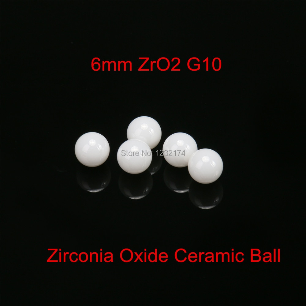 كرة سيراميك من أكسيد الزركونيا ، 6 مللي متر ، G10 ، 100 قطعة ، كرة صمام ، محمل ، خالط ، بخاخ ، مضخة كرة سيراميك 9 مللي متر ZrO2