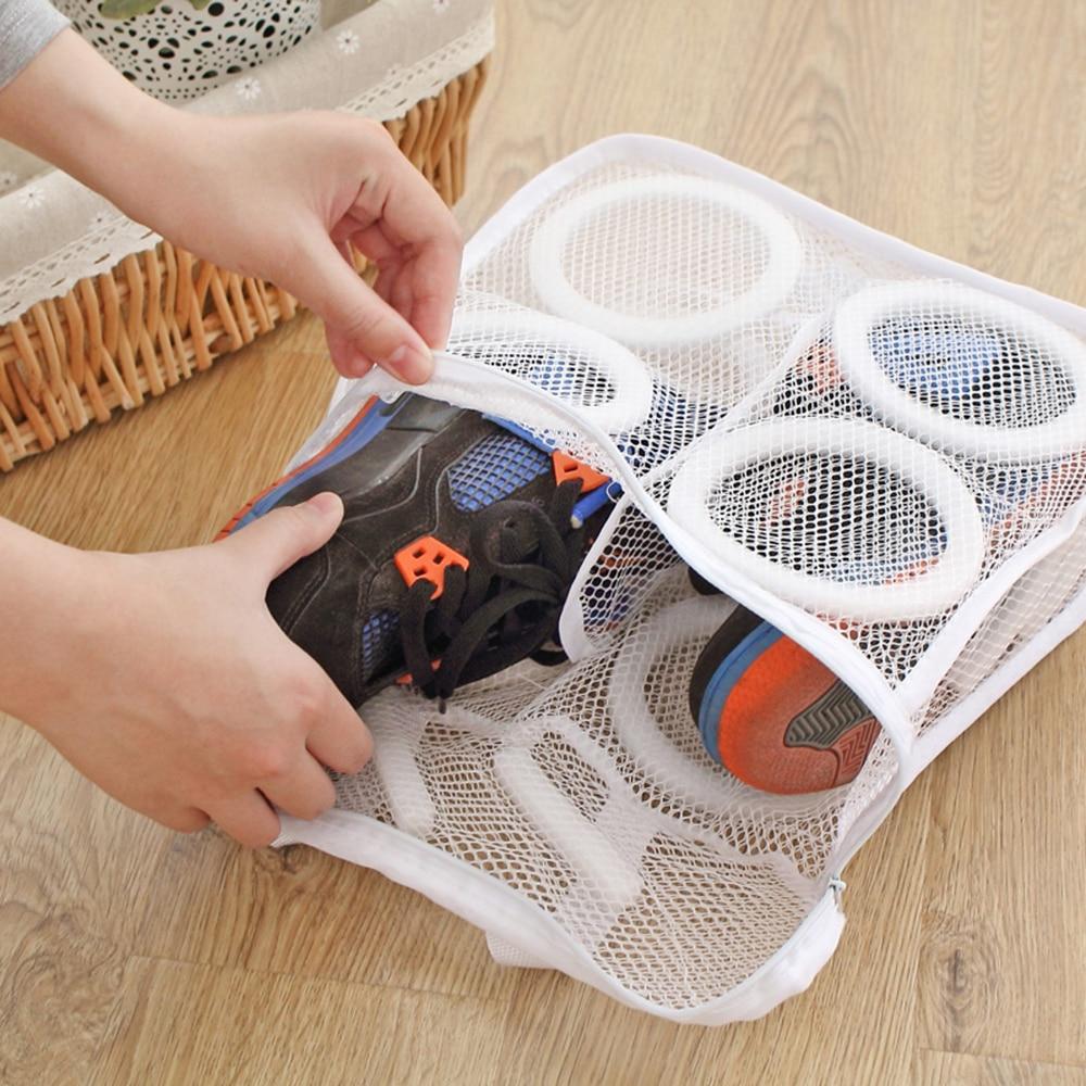 Leni čevlji za pranje vrečk pralne vrečke za čevlje spodnje - Organizacija doma - Fotografija 2