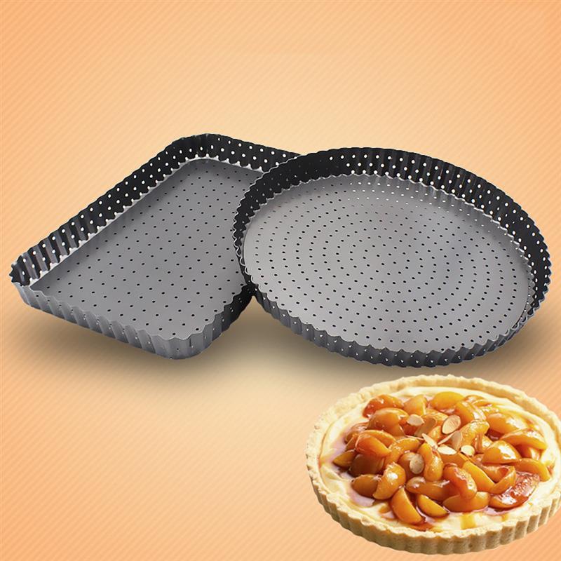 Bandeja de Pizza antiadherente multiusos para hornear utensilios de Pizza para cocina rectangular forma redonda Pizza profunda panadero