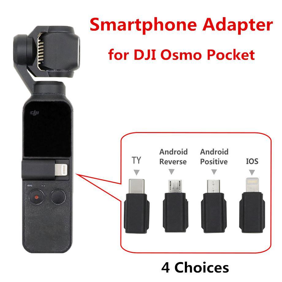 Yiwa pour DJI Osmo adaptateur de poche pour Smartphone MicroUSB pour Android TYPE-C IOS pour OSMO accessoires de cardan de poche