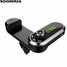 SOONHUA chargeur de voiture BT transmetteur FM sans fil voiture USB 2.2A Max chargeur de téléphone lecteur MP3 bande support pour téléphone Dock