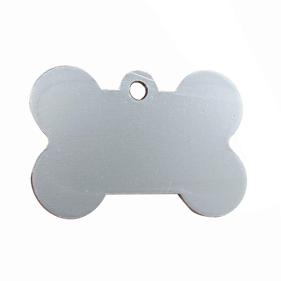 Etiquetas personalizadas personalizadas da identificação do animal de estimação do gato do cão do filhote de cachorro de 38mm para colar prata