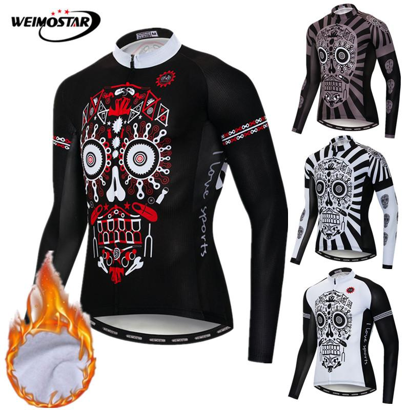 Jersey de Ciclismo de Invierno 2019 Pro Team ropa para bicicleta de montaña maillot de ciclismo para invierno ropa cálida para bicicleta