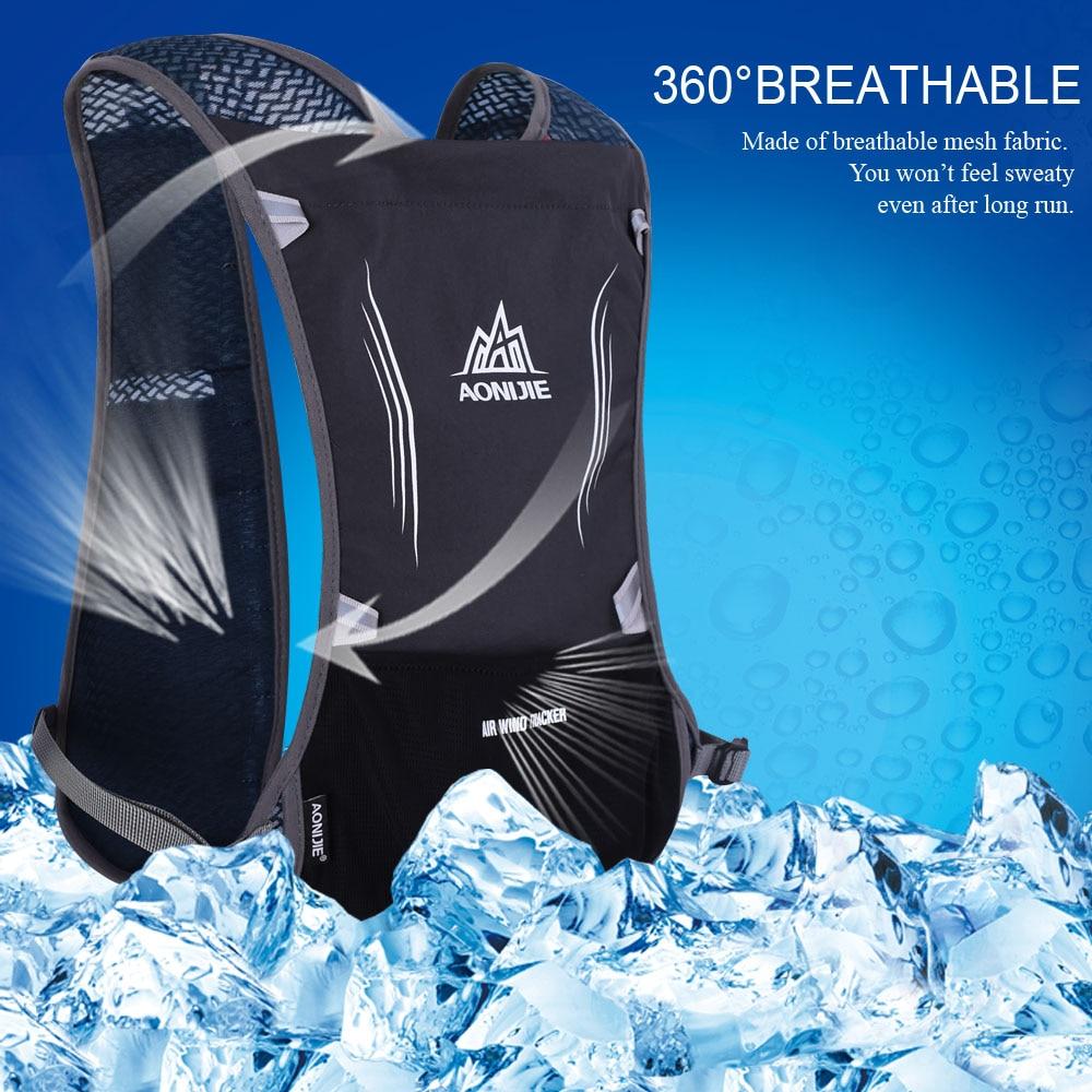 AONIJIE 5L Premium chaleco reflectante bolsa agua deportiva mochila botella Running mochila ciclismo bolsa mujeres hombres seguridad alta visibilidad