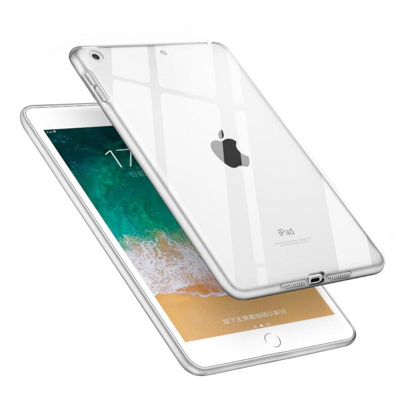 Für iPad Mini 5 Fall 2019 Klar Weichen TPU Gel Silikon Stoßstange Fall Zurück Haut Schutz Transparente Abdeckung für Apple iPad Mini 5