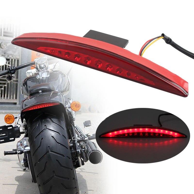 Traseiro vermelho fender ponta luz da cauda de freio led se encaixa para harley breakout fxsb 2013 17 14-16