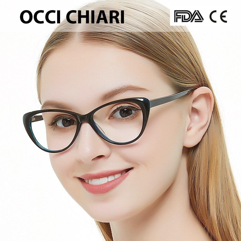 Free Shipping Fashion Eyewear Cat Eye Shape HandMade Prescription Lens Medical Optical Acetate Glasses Frame For Women  AGNES