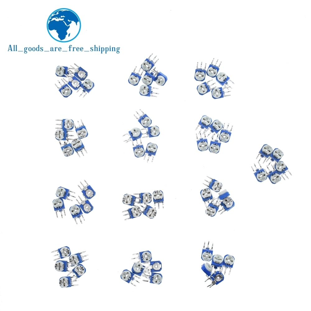 10 шт. Rm063 Rm-063 100 200 500 1k 2k 5k 10k 20k 50k 100k 200k 500k 1m Ohm Trimpot Триммер Потенциометр переменный резистор
