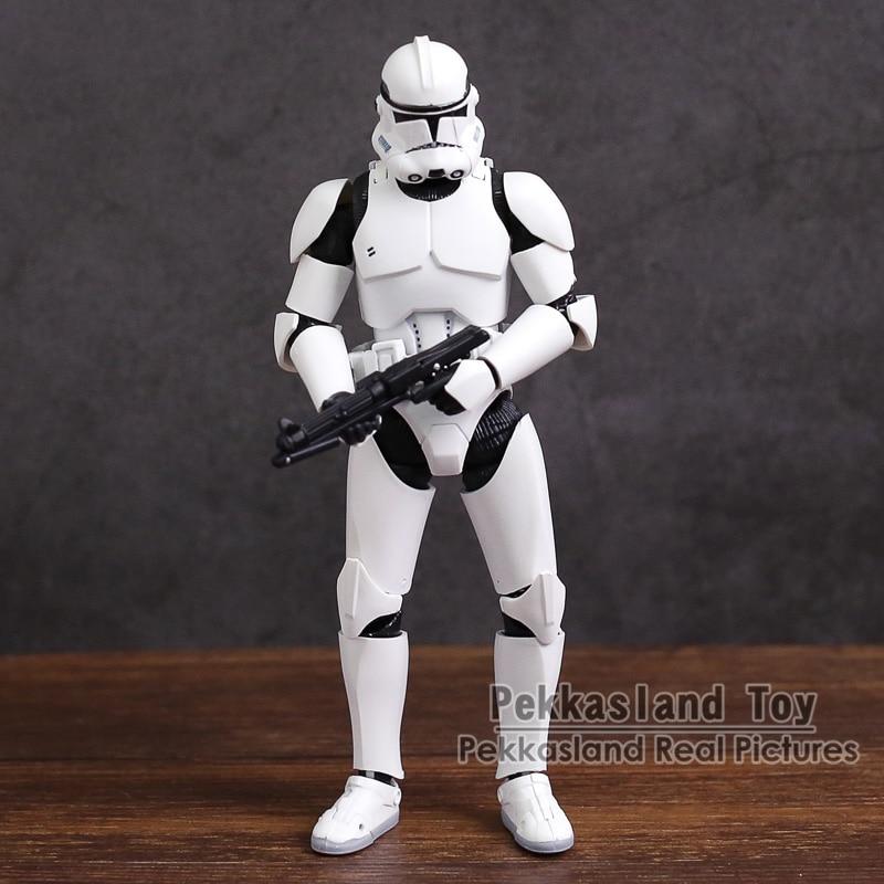 SHF Clone Trooper PHASE II / PHASE I Captain ПВХ экшн-фигурка, Коллекционная модель игрушки