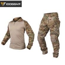IDOGEAR одежда для охоты камуфляжная форма Gen3 тактическая боевая одежда BDU страйкбол Пейнтбол Мультикам черная одежда