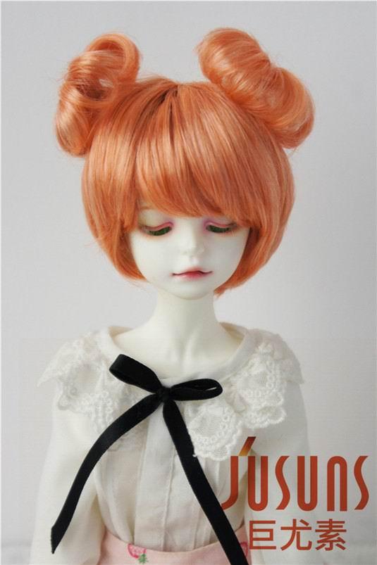 JD301 1/4 Peluca de muñeca BJD mohair sintético a la moda, MSD doble círculo Tamaño 7-8 pulgadas, pelucas de muñeca con cola concentrada