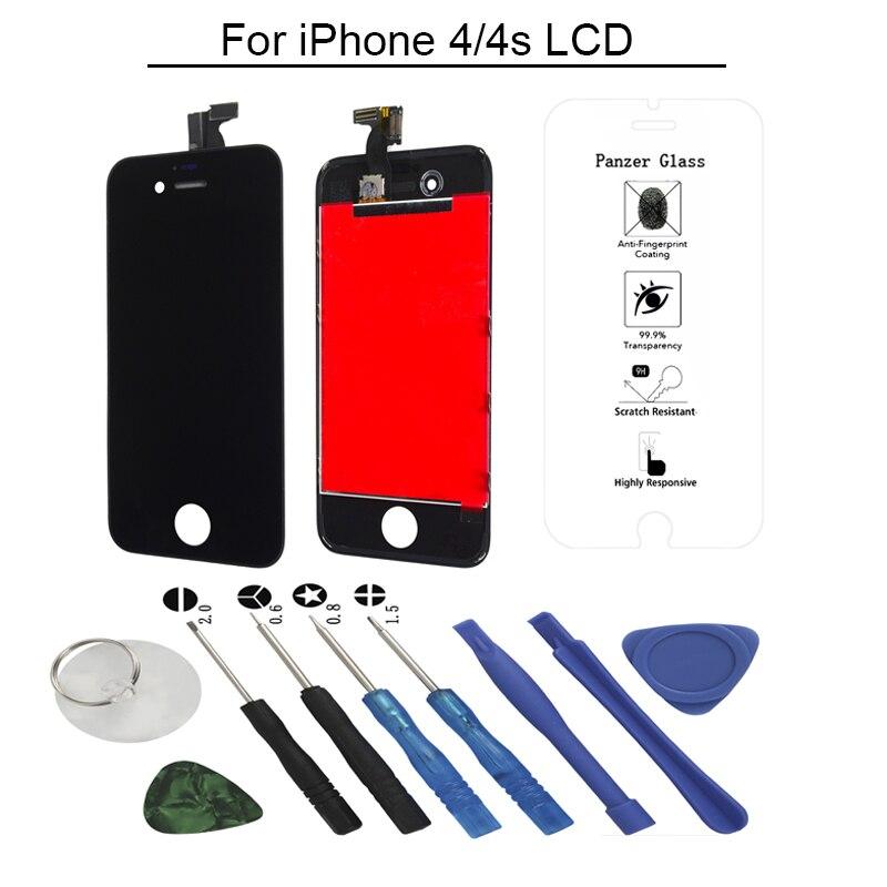 Reemplazo de montaje de pantalla táctil lcd OEM AAA 4S para pantalla lcd iphone 4