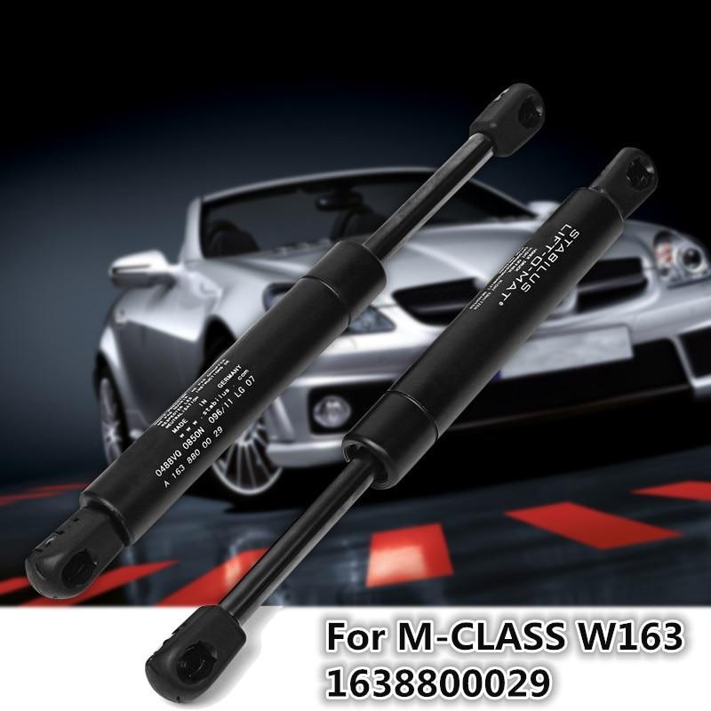 Mejor 2 uds capó delantero amortiguadores de Gas 1998-2005 para Mercedes Benz para W163 ML230 ML270 ML320 ML350 ML430 1638800029