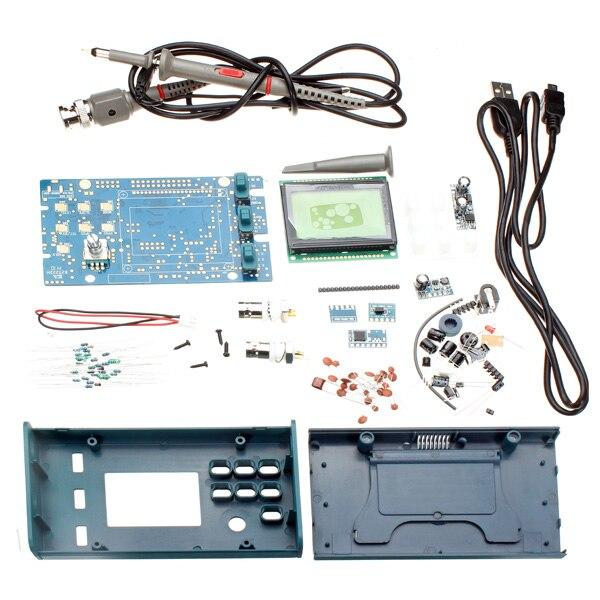 Tecnologia original dso068 diy osciloscópio kit com medidor de freqüência de armazenamento digital atmega64 avr microcontrol
