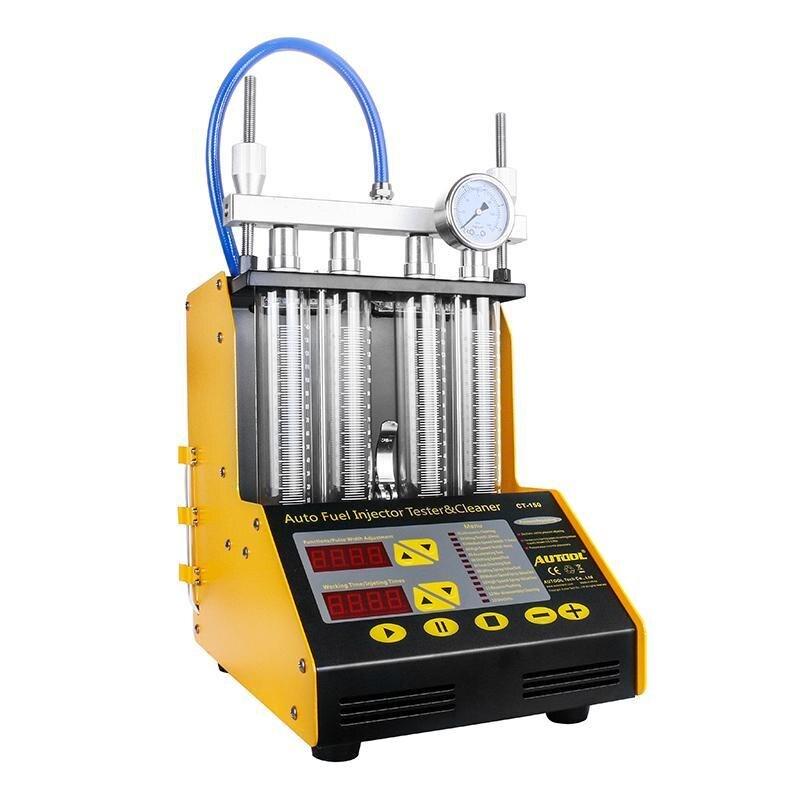 Herramienta de limpieza de inyector de coche AUTOOL CT150 de 4 cilindros CT150