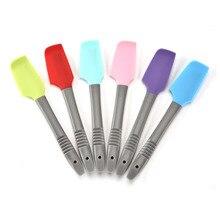 Racloir à crème multifonctionnel en Silicone   Outils de pâtisserie 1 pièces, spatule à gâteau queue accrochée Gadgets de cuisine, qualité alimentaire