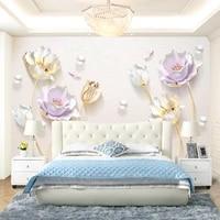 custom 3d tv background wall paper 5d three dimensional concave convex murals living room bedroom seamless video wall cloth