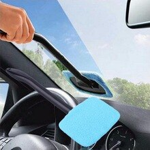 Nettoyeur de vitres en plastique microfibre   Brosses à Long manche, éponges, outil de nettoyage de voiture pratique lavable 32