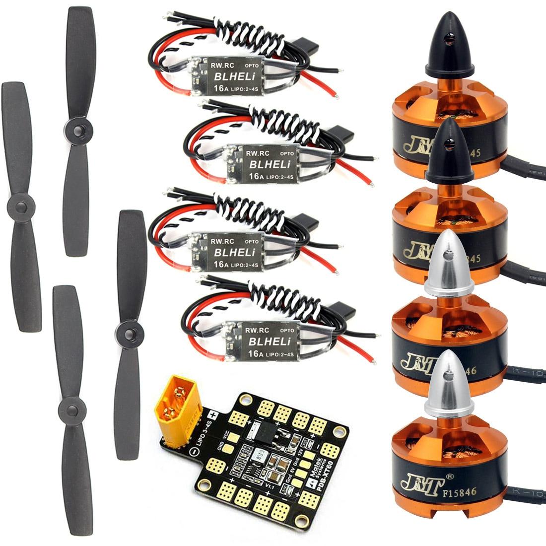 Combo Kit para 250 de 210 RC Drone 4x1806 2400KV sin escobillas de Motor + Mini BLHeli dispositivos optoelectrónicos 16A ESC + 5045 hélices CW CCW con AP BEC
