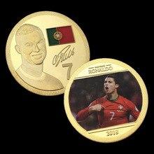 2018 футбольный кубок памятная монета Португалия 7th C Ronaldin медальон в форме монеты король 7th монета
